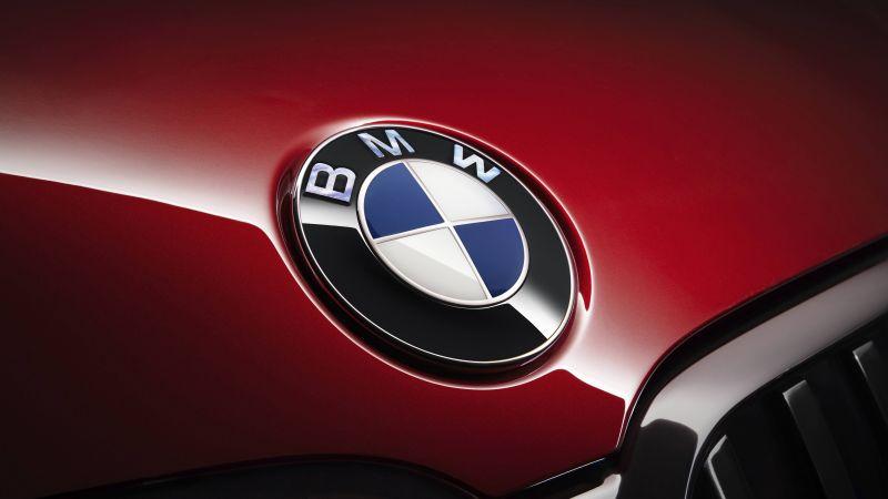 BMW logo, BMW 7 Series, 5K, Wallpaper