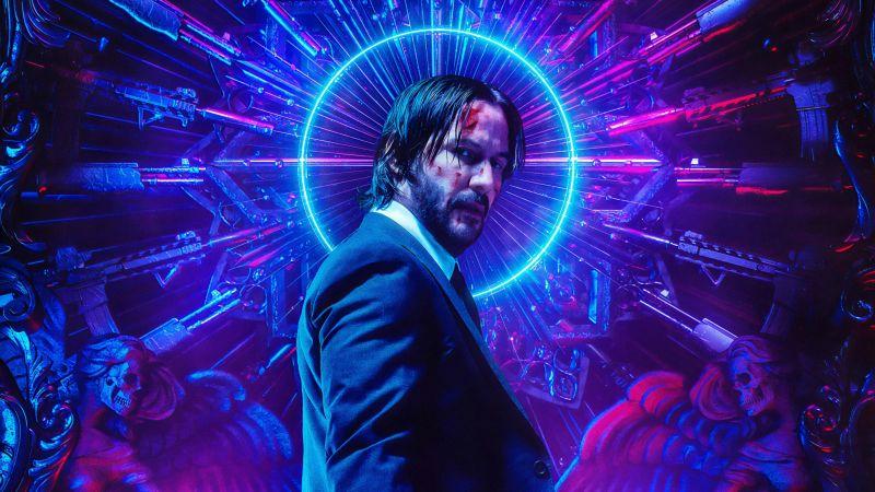 John Wick: Chapter 3 - Parabellum, Keanu Reeves, 2019, Wallpaper