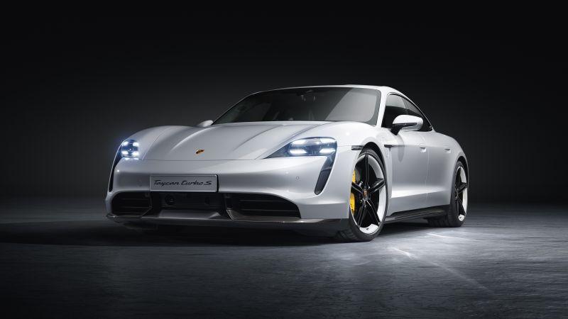 Porsche Taycan Turbo S, Sports cars, 5K, Wallpaper