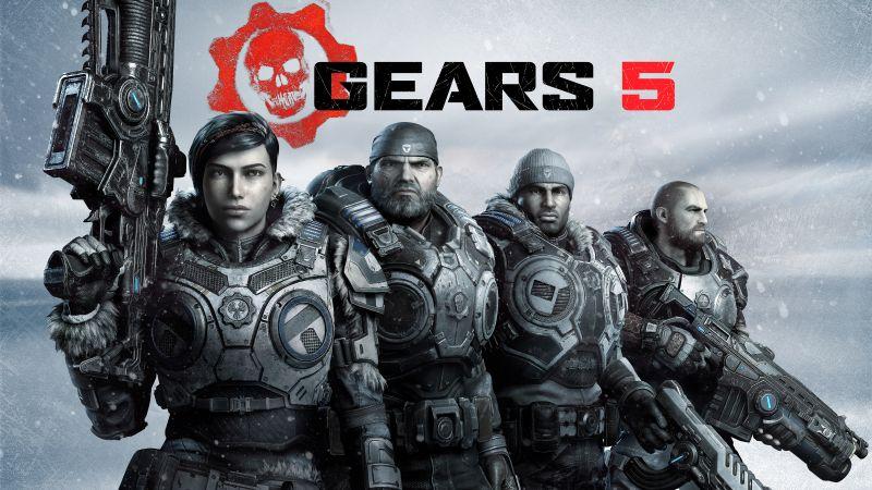 Gears 5, Kait Diaz, Marcus Fenix, Xbox One, Xbox Series X, PC Games, 5K, Wallpaper