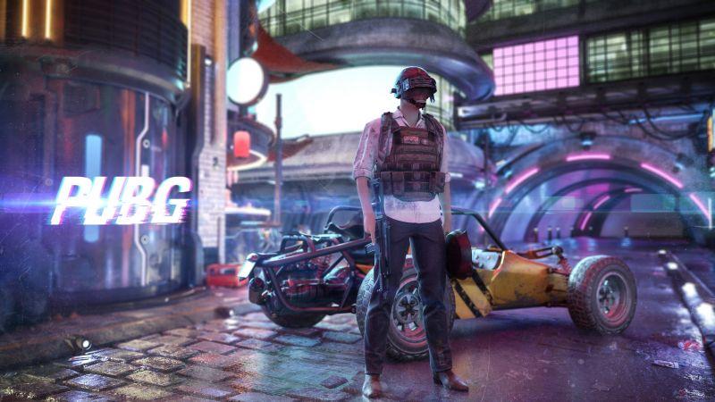 PUBG, PlayerUnknown's Battlegrounds, Cyberpunk, Wallpaper