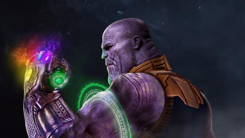 Thanos, Infinity Gauntlet, Infinity Stones, Avengers: Endgame, Wallpaper