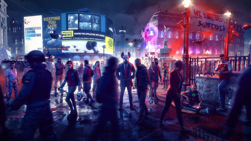 Watch Dogs: Legion, 2020 Games, PlayStation 5, PlayStation 4, Xbox Series X, Xbox One, Google Stadia, PC Games, 5K, 8K, Wallpaper
