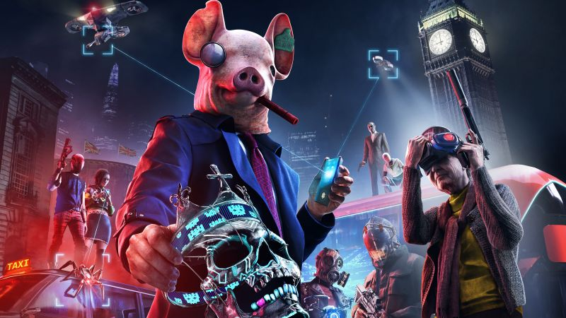 Watch Dogs: Legion, PlayStation 5, PlayStation 4, Xbox Series X, Xbox One, Google Stadia, PC Games, 2020 Games, 5K, Wallpaper