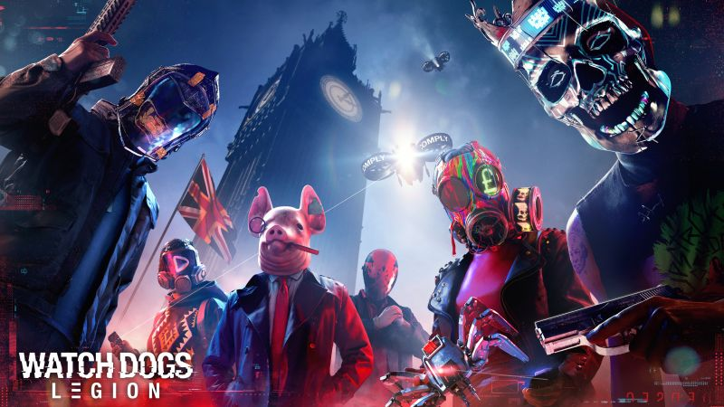 Watch Dogs: Legion, PC Games, PlayStation 5, PlayStation 4, Xbox Series X, Xbox One, Google Stadia, 2020 Games, Wallpaper