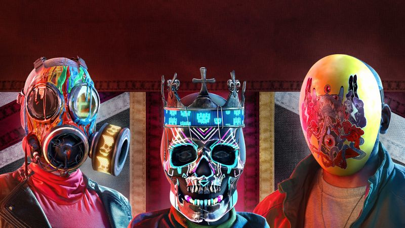 Watch Dogs: Legion, Ded Coronet Mask, PlayStation 5, PlayStation 4, Xbox Series X, Xbox One, Google Stadia, PC Games, 2020 Games, 5K, Wallpaper