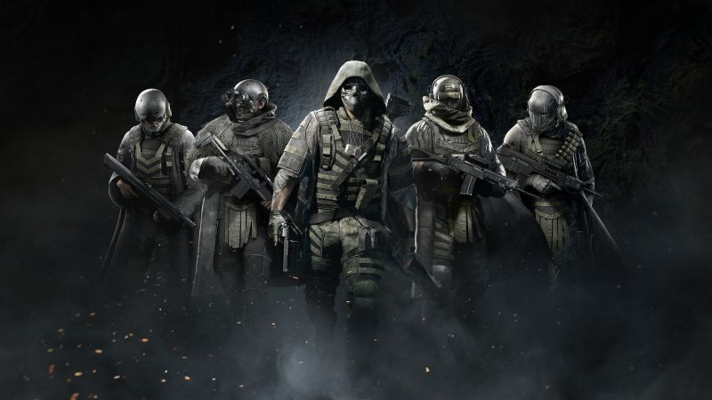 Tom Clancy's Ghost Recon Breakpoint, PlayStation 4, Xbox One, Google Stadia, PC Games, 5K, 8K, Dark background, Wallpaper
