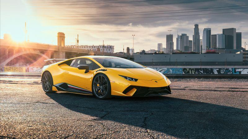 Lamborghini Huracan Performante, 5K, Wallpaper