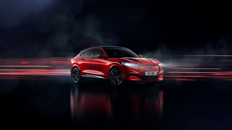 Ford Mustang Mach-E, Electric crossover, Electric SUV, 2020, 5K, Wallpaper