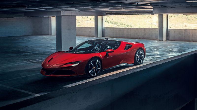 Ferrari SF90 Stradale, Plug-In Hybrid, Hybrid electric cars, Wallpaper