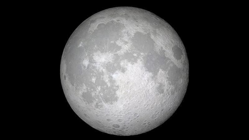 Moon, iOS 11, Black background, Stock, iPad, Wallpaper