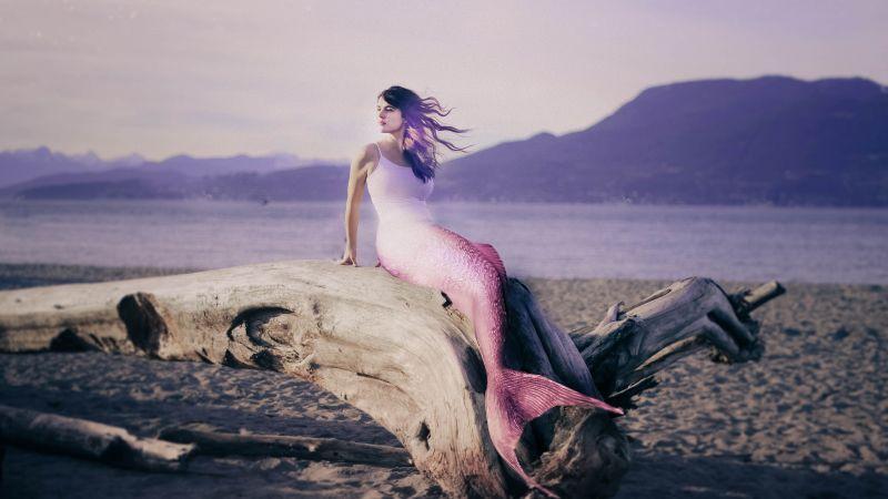 Mermaid, Dream, Girl, Wallpaper