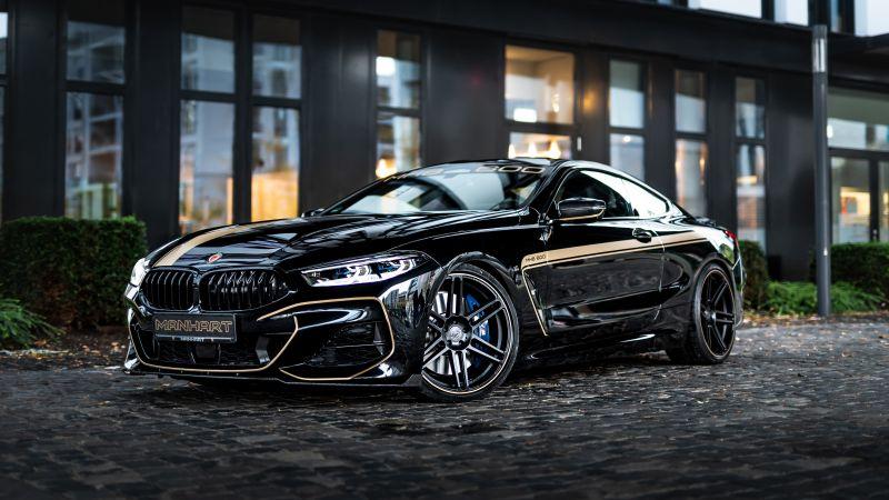 BMW M850i, Manhart Performance, Tuning, Black Edition, 5K, Wallpaper