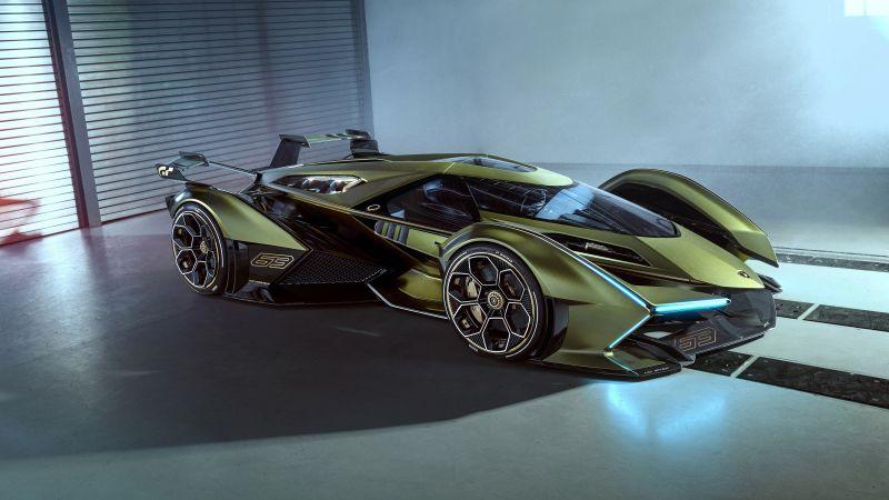 Lamborghini Lambo V12 Vision GT, Concept cars, Hypercar, 5K, Wallpaper