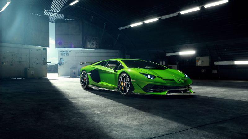 Lamborghini Aventador SVJ, Novitec, 5K, 8K, Wallpaper