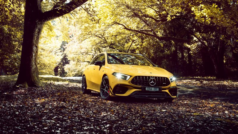 Mercedes-AMG A 45 S 4MATIC, Aerodynamic Package, Fall, 2020, Wallpaper
