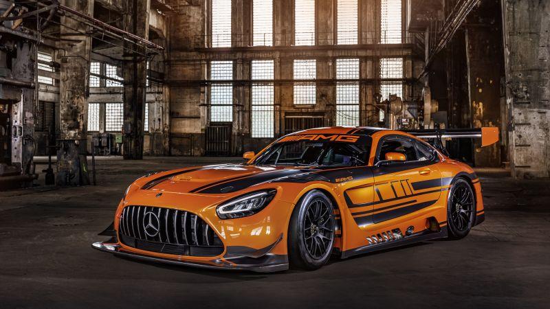 Mercedes-AMG GT3, Sports cars, 5K, Wallpaper