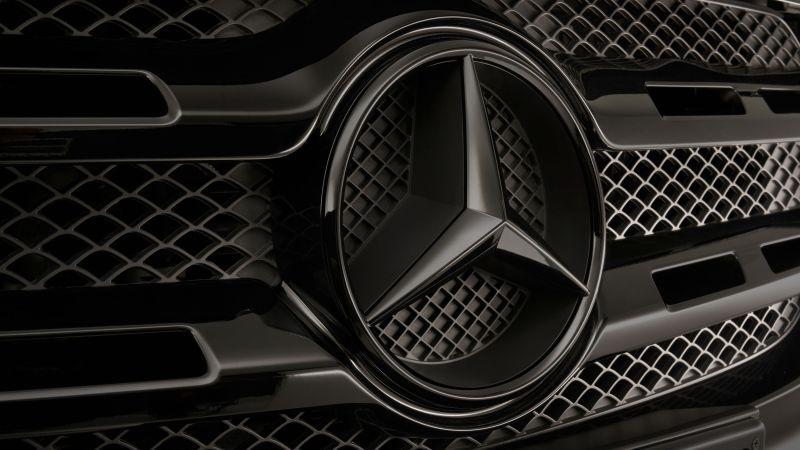 Mercedes Benz X Class, Logo, Wallpaper