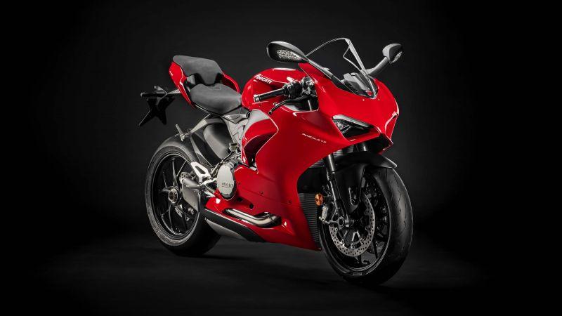Ducati Panigale V2, 2020, Sports bikes, Black background, Wallpaper