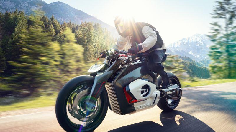 BMW Vision DC Roadster, Electric bikes, Concept bikes, Biker, Wallpaper