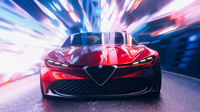 Alfa Romeo Zagato, Concept cars, CGI, Wallpaper