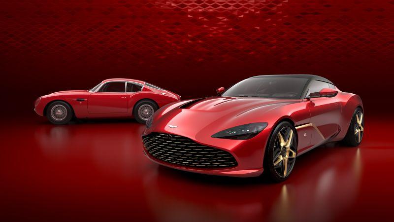 Aston Martin DBS GT Zagato, Red, Supernova Red, Supercars, Wallpaper