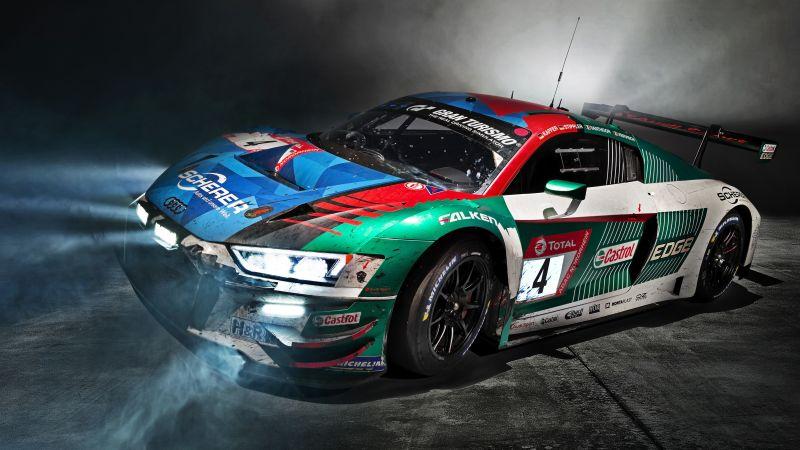 Audi R8 LMS, Sports cars, 5K, Wallpaper