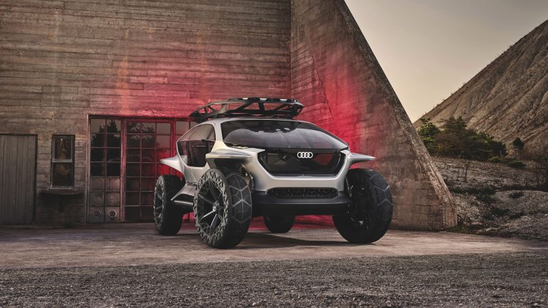 Audi Releases AITrail Quattro, Electric cars, Off-roading, Concept cars, 5K, Wallpaper