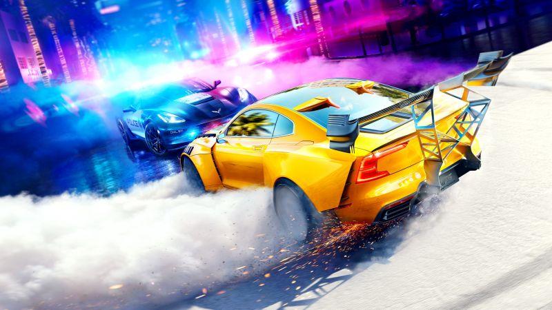 Need for Speed Heat, Chevrolet Corvette Grand Sport, Polestar 1, PlayStation 4, Xbox One, PC Games, Wallpaper