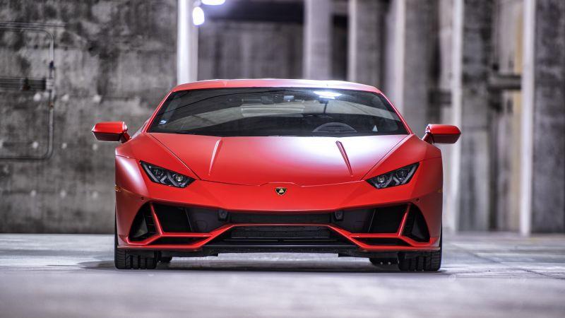 Lamborghini Huracan EVO, Red, Matte, Wallpaper