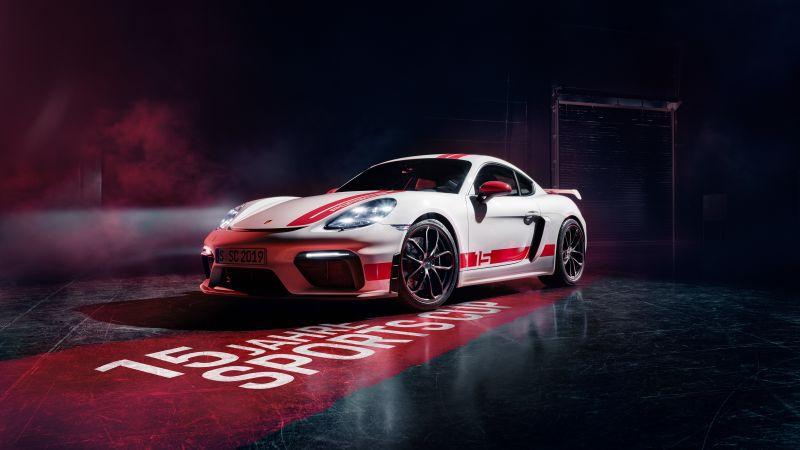 Porsche 718 Cayman GT4, Sports cars, Wallpaper