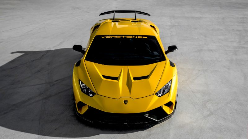 Lamborghini Huracan Performante, Vorsteiner, Yellow, Wallpaper