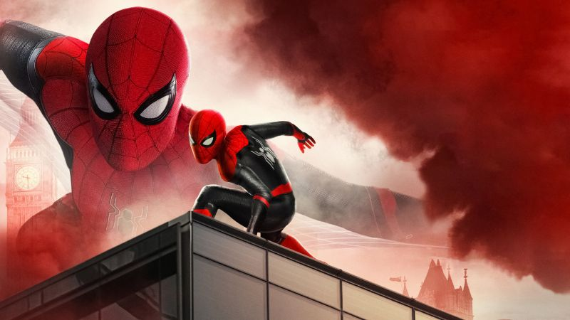Spider-Man: Far From Home, Red, Wallpaper
