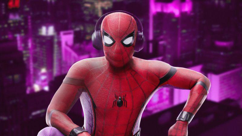 Spider-Man, Listening music, Marvel Superheroes, Wallpaper