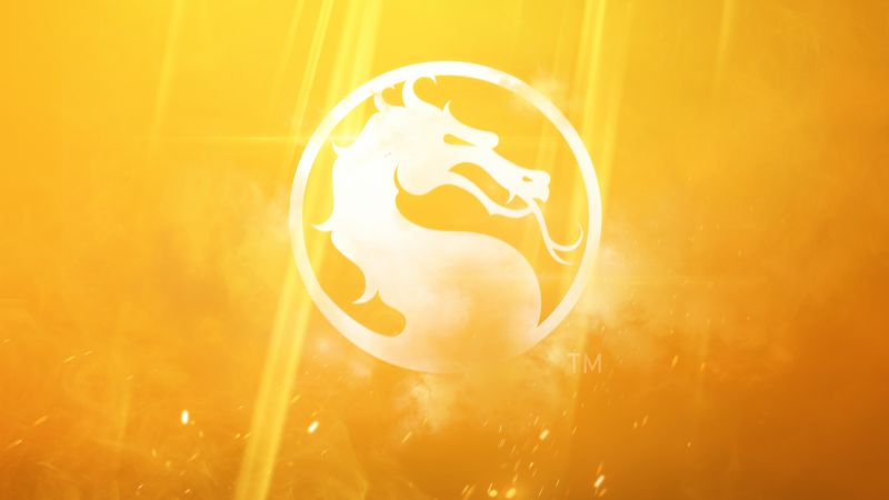 Mortal Kombat 11, 2019, Yellow background, 8K, Wallpaper