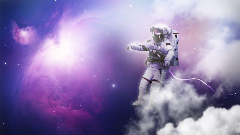 Astronaut, Nebula, Clouds, Space Travel, Space Adventure, Wallpaper