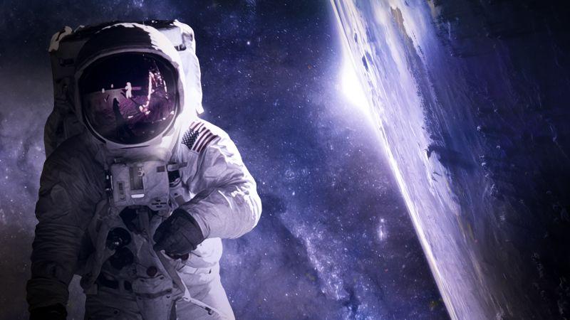 Astronaut, Plane, Astronomy, USA, NASA, Wallpaper