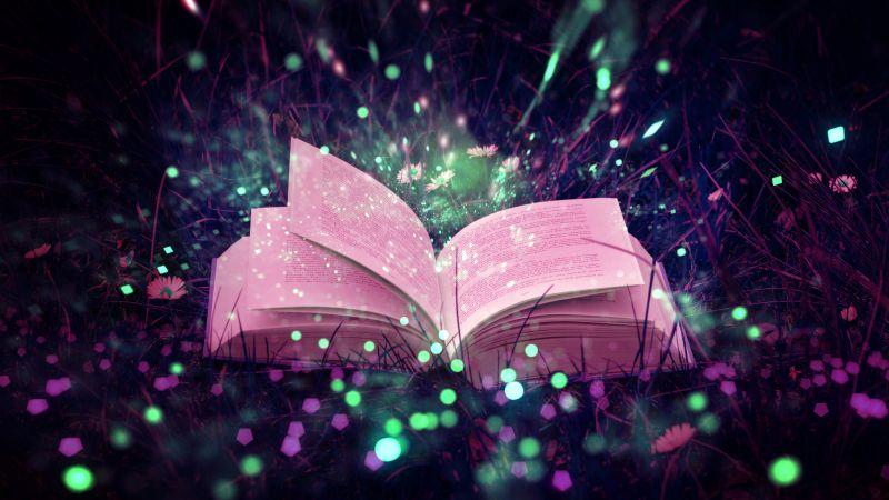 Magic, Book, Fairy tale, 5K, Wallpaper