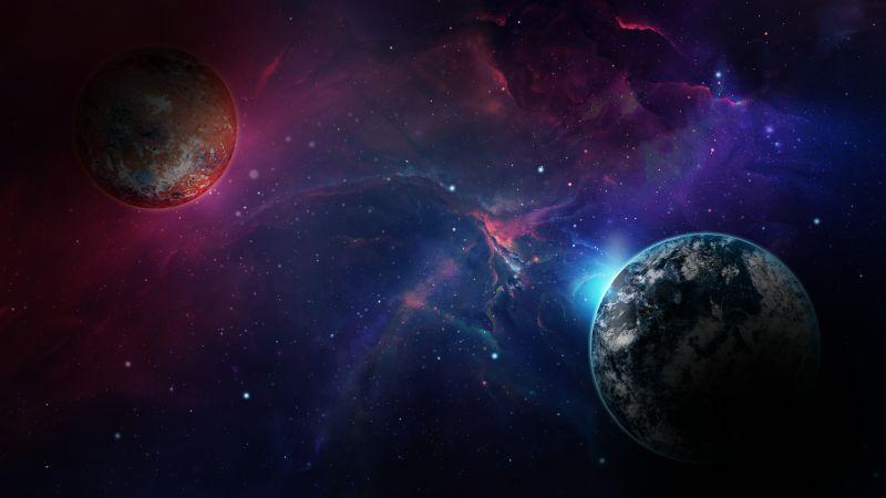 Planet, Astronomy, Galaxy, Nebula, Cosmos, Wallpaper