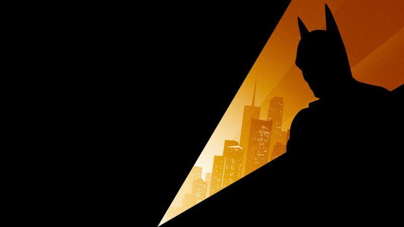 Batman, Silhouette, DC Comics, DC Superheroes, Wallpaper