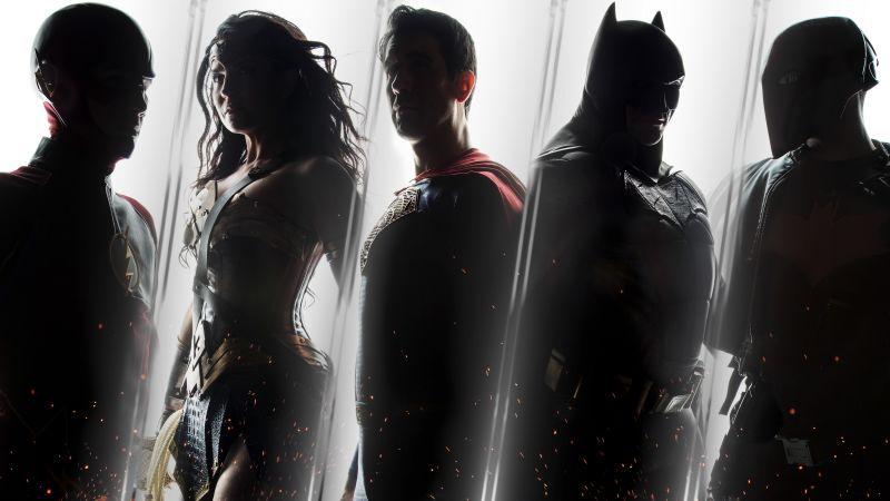 Justice League, DC Comics, DC Superheroes, The Flash, Wonder Woman, Superman, Batman, Red Hood, Wallpaper