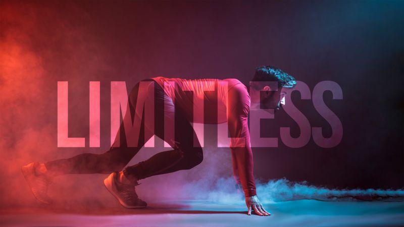 Workout, Limitless, Endurance, Gym, Colorful smoke, Wallpaper