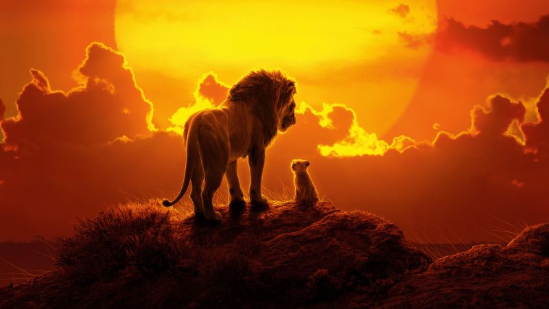 The Lion King, Simba, Mufasa, Lion cub, Animation, Wallpaper