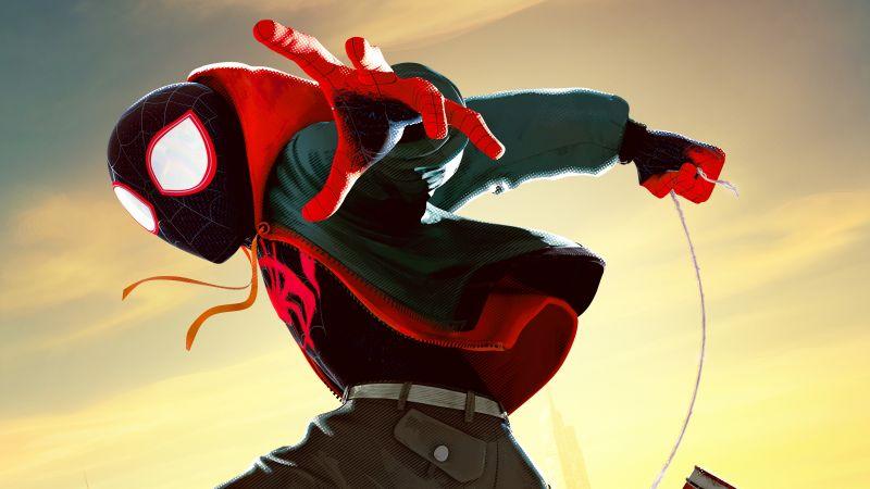 Miles Morales, Spider-Man: Into the Spider-Verse, Marvel Comics, 5K, Wallpaper