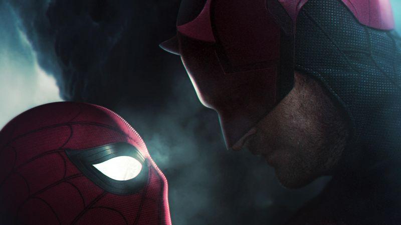 Spider-Man, Daredevil, Marvel Comics, Marvel Superheroes, Wallpaper