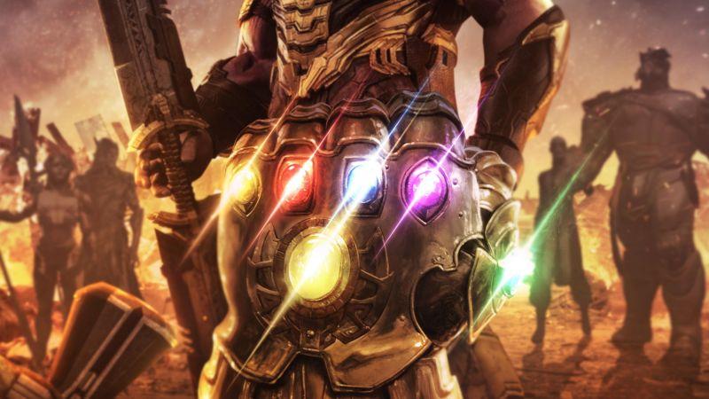 Infinity Gauntlet, Thanos, Avengers: Endgame, Infinity Stones, Wallpaper