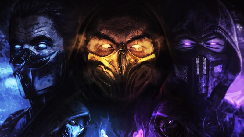 Mortal Kombat 11, Scorpion, Sub-Zero, Wallpaper