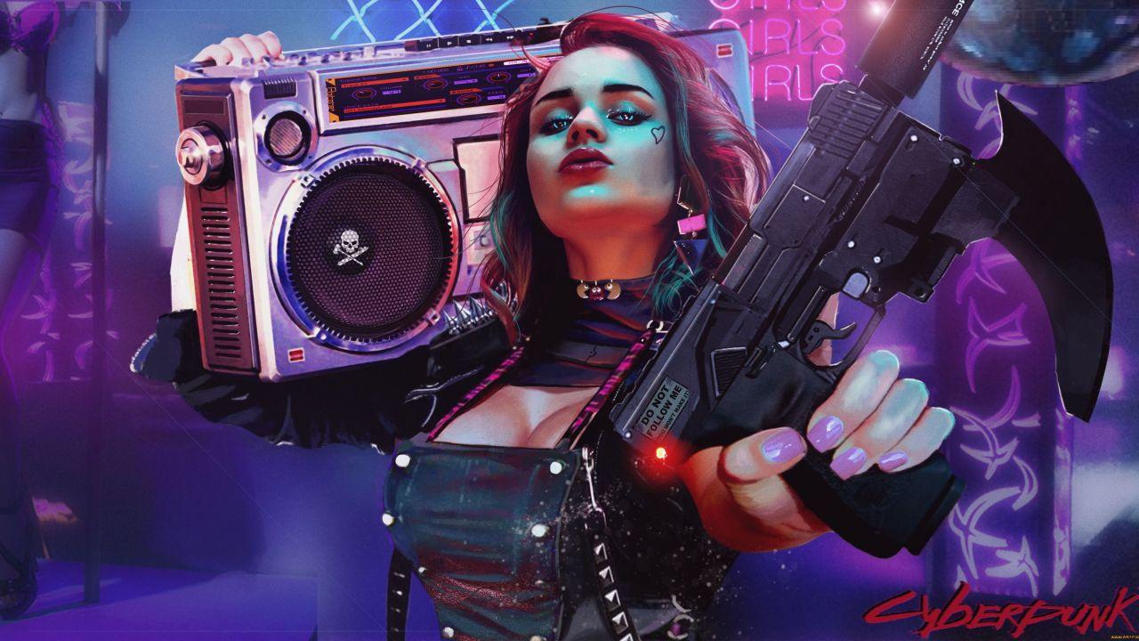 Cyberpunk girl 4K Wallpaper, 2020 Games, Cyberpunk 2077 ...