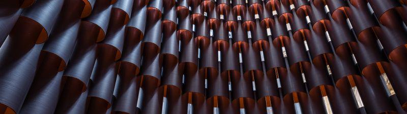 Modern architecture, Symmetric, Pattern, Metal, Light