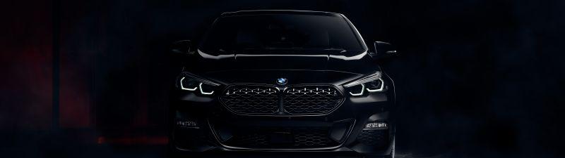 BMW 220d Gran Coupé M Sport, Black Edition, BMW 2 Series, Dark background, 2021, 5K, 8K, AMOLED